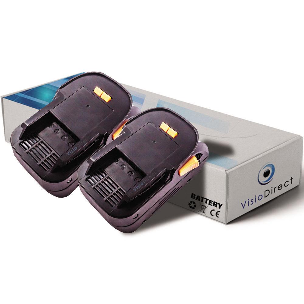 Lot de 2 batteries 18V 3000mAh pour AEG BSS18C  - Société Française -