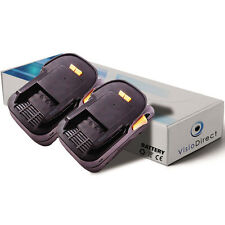 Lot de 2 batteries type B1820R 18V 3000mAh pour AEG