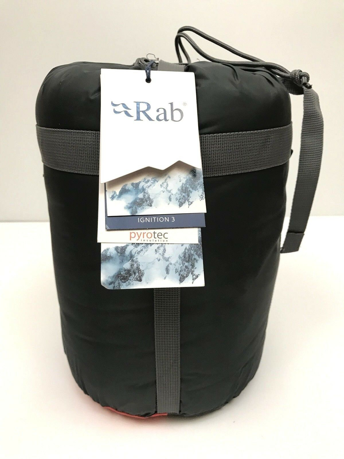 Rab Ignition 3 Sleeping Bag 26 Degree  Synthetic Left Zip Oxide NWT  160 Mummy  large selection