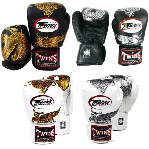 Twins Special FBGV-23 Dragon Series Leather Martial Arts Muay Thai Boxing Gloves