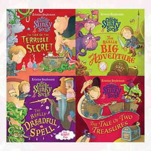 Kristina-Stephenson-Collection-Sir-Charlie-Stinky-Socks-4-Books-Set-Brand-New-PB