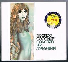 RICCARDO COCCIANTE CONCERTO PER MARGHERITA CD I DISCHI D'ORO  F.C.SIGILLATO!!!