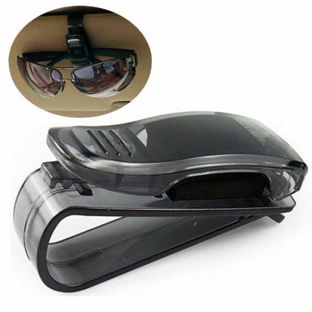 Black Car Auto Sun Visor Glasses Sunglasses Card Ticket Holder Clip Universal
