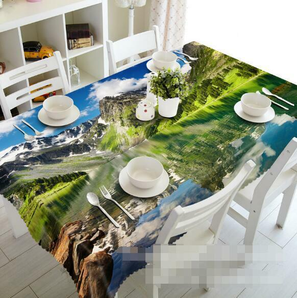 3D Lake Scenery 4 Tablecloth Table Cover Cloth Birthday Party Event AJ WALLPAPER
