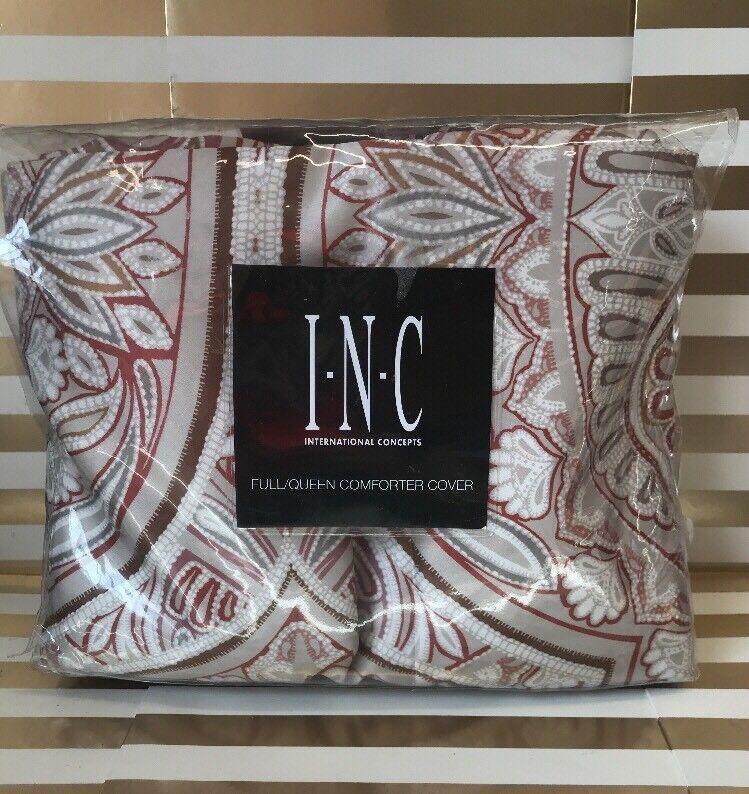 INC International Concepts Valentina Full Queen Comforter Cover. MSRP  145.00