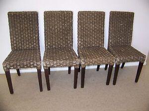 Image Is Loading Samsara Water Hyacinth Dining Chairs X 4