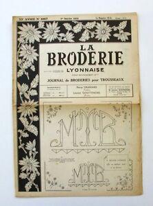 La Broderie Lyonnaise N°1067 - 1951 - Broderies Pour Trousseaux - Alphabet - Esc25bs1-07163825-118784305