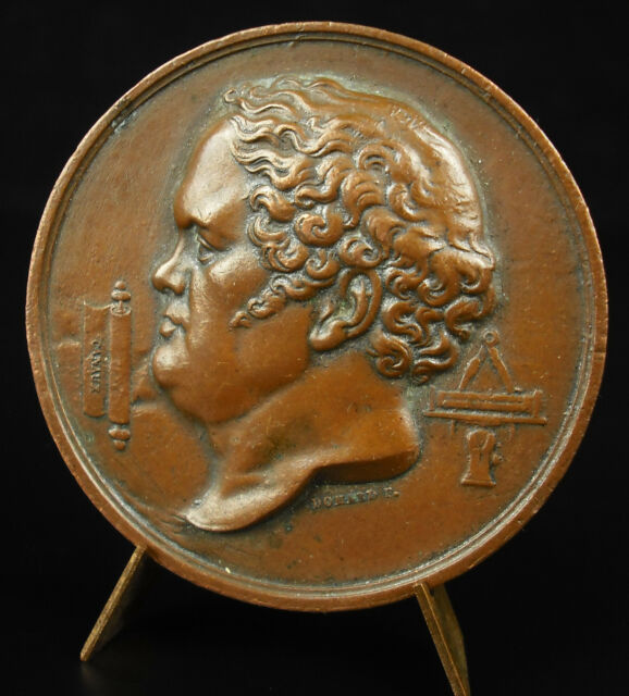 medal Barnabé Brisson 1777-1828 engineer of Bridges & Pavement Domard medal