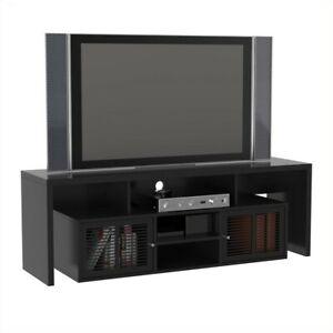 "Convenience Concepts Designs2Go Lexington 59"" TV Stand in Black Wood Finish"
