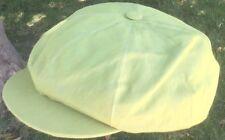 ANTHONY PETO CAP 8/4 PAPERBOY PEAKY BLINDERS 100% Linen XXL GREEN YELLOW 63CM