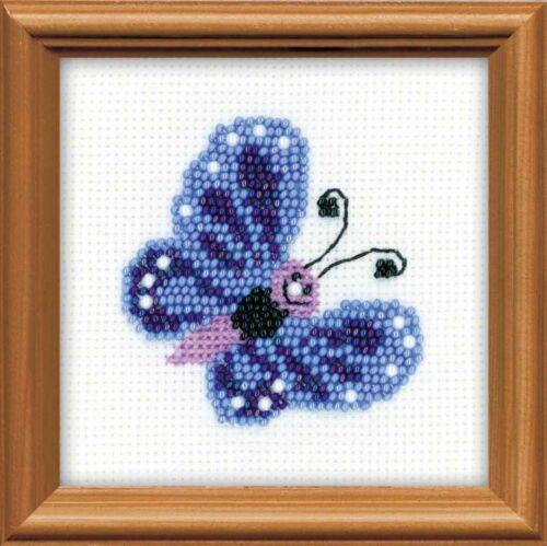 Riolis 1110 Schmetterling Stickerei Perlen Klöppelspitze