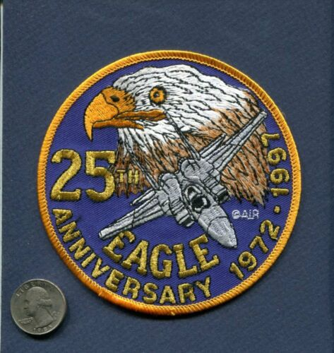 McDONNELL DOUGLAS F-15 EAGLE 25th Anniversary 1997 USAF Fighter Squadron Patch