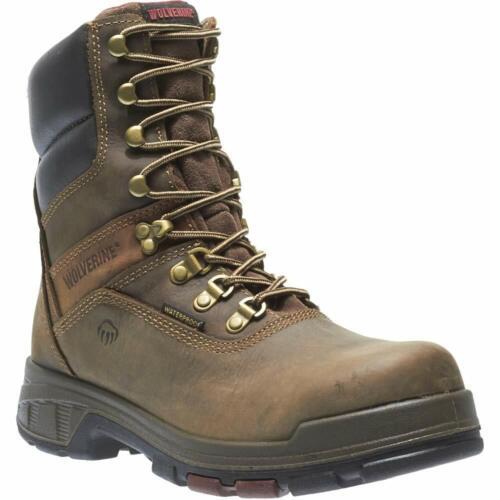 "Mens Wolverine Cabor 8/"" Comp Toe Dark Coffee Work Boot W10316"