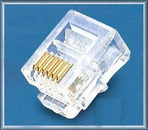 5-10-20-50-100-RJ12-6-Pin-ADSL-Telephone-Cable-End-Connectors-Plugs-6P6C