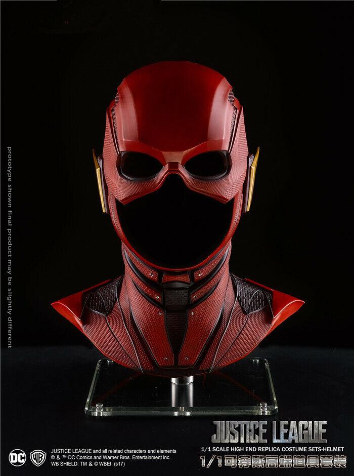Liga De La Justicia escala 1 1 conjuntos de Disfraz de hombre Flash-Coleccionables Casco Nuevo en la acción