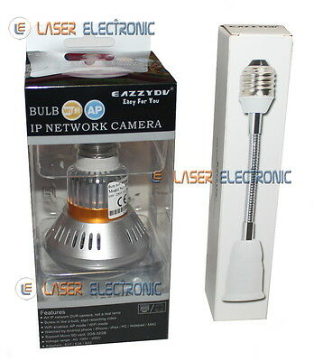 Telecamera IP Wifi Nascosta dentro Lampadina a LED IR Invisibili + SD Card 16GB