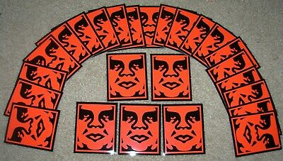SHEPARD FAIREY Obey Giant Sticker 2.5 X 3 in RED OBEY 5-Pc from poster print