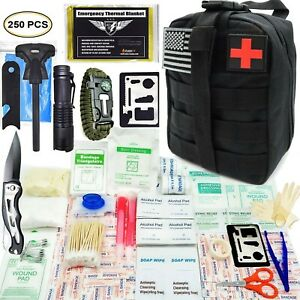 Details about Tactical First Aid Kit Emergency for Camping Hunting Hiking  Home Car Earthquake