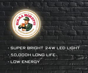 Man Cave Birra Moretti LED ILLUMINATED SIGN WALL MOUNTED LIGHT BOX for Garage