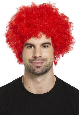Parrucca Afro Riccia Costume Festa Clown Funky Da Discoteca Uomini//Donne Costume di capelli 70 S