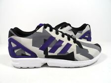 db214103fac08 S76504 Men s adidas Originals ZX Flux White Black Multi Color Adm85 ...