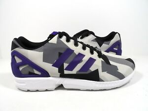 1657552a5 Adidas Originals Men s ZX Flux Sneaker White Purple Black Size 11.5 ...
