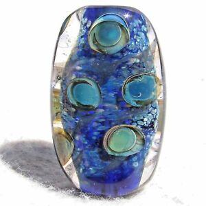 CARIBE-Handmade-Art-Glass-Focal-Bead-Flaming-Fools-Lampwork-Art-Glass-SRA
