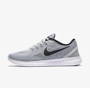 Image is loading Nike-Free-RN-831509-101-White-Black-Grey-