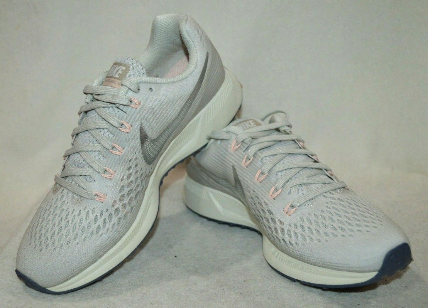 Nike Air Zoom Pegasus 34 Light Bone Chrome Wouomo Running scarpe-Asst Dimensiones NWB
