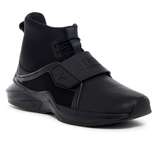 uk availability 1f9d9 0eee3 PUMA X Womens The Trainer Hi by Rihanna Fenty Black Size 9