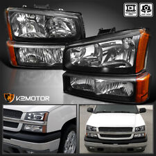For 2003 2007 Chevy Silverado 2002 2006 Avalanche Black Headlightsbumper Lamps Fits More Than One Vehicle
