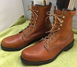 3e99a6ef1d9 Details about Wolverine Mens 11D Leather Work Boots R03378 Saddle Tan Brown  Mid Calf Lace Up