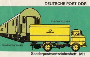 Deutsche-Post-DDR-Sonderpostwertzeichen-mit-10-Marken-postfrisch-Markenheftchen
