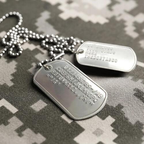 AMÉRICAIN Personnalisé Acier Inoxydable Armée Militaire Marine Plaques Jeux