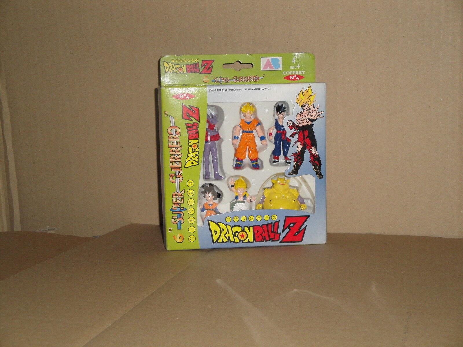 DRAGON BALL BALL DRAGON Z SUPER GUERERO BY AB TOYS COFFRET # 4 WHEN SIX FIGURES NEW IN BOX 662b4f