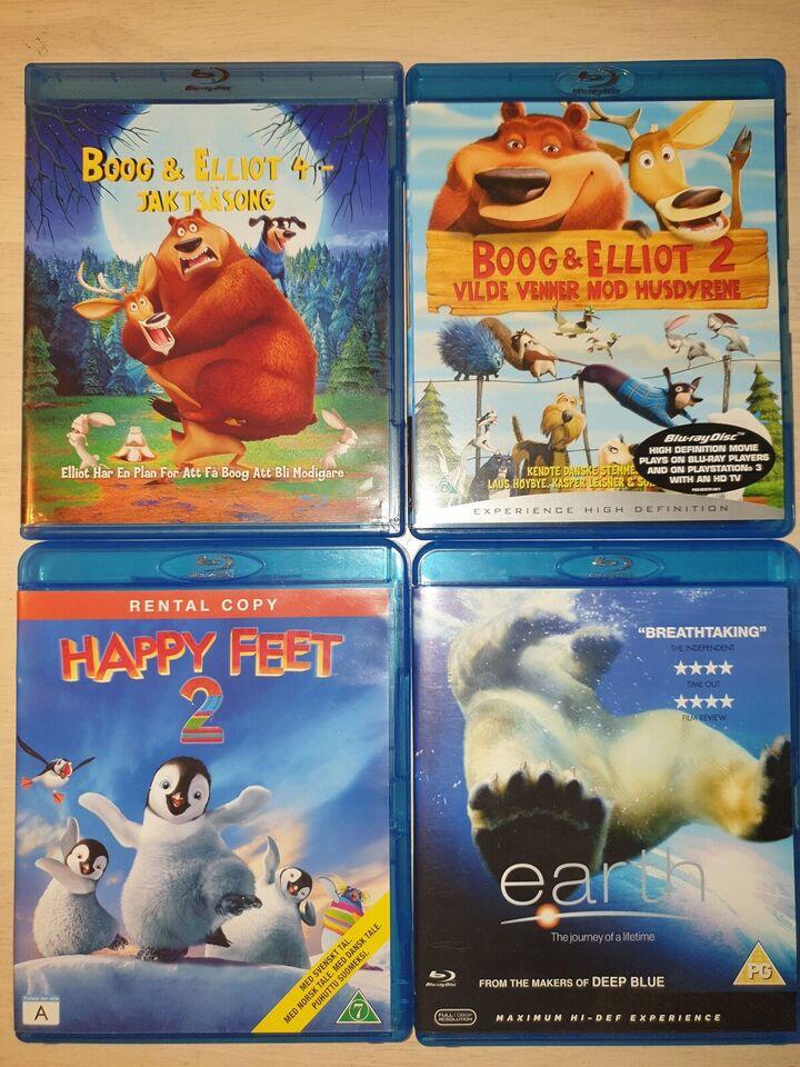 Blu-ray film 30 kr. Pr stk., Blu-ray, familiefilm