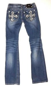 26 Medal Sz Miss Rhinestone Boot Lommer Embellished Me s Jp5854b Studded Jeans BSqxnRvIS