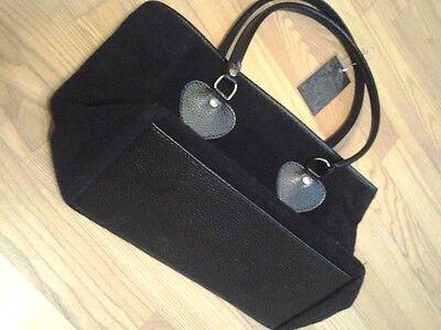 Damentasche / Tasche in schwarz, Filz, A4- Format, NEU, Winter