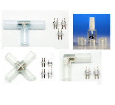 13mm Luce Corda Connettore 2,3,4 Vie, Colla, Giunzione, Tubo, Tappi Terminali, Cavo Di Alimentazione- Vivace E Grande Nello Stile