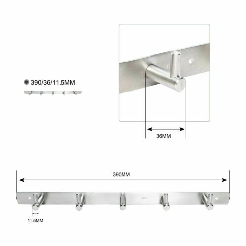 NEW Wall Hooks 304 Stainless Steel Hanger Key Coat Robe Towel Hat Clothes Rack