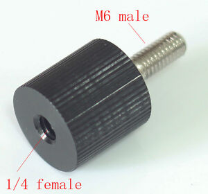 "1/4"" female to M6 unit male Convert Screw Adapter for rod rail system & Tripod"