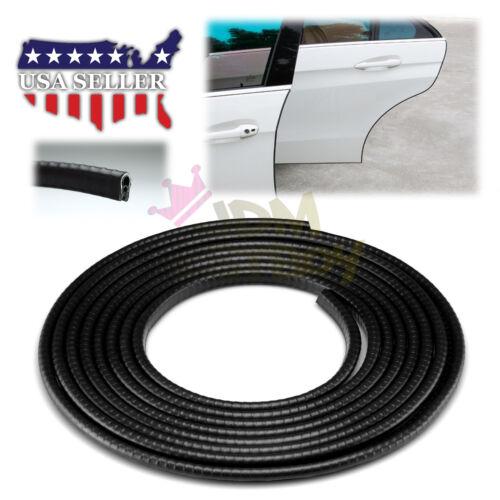 "120/"" Heavy Duty Black Car Door Edge Guard Molding Trim Protector Strip 10FT EG01"