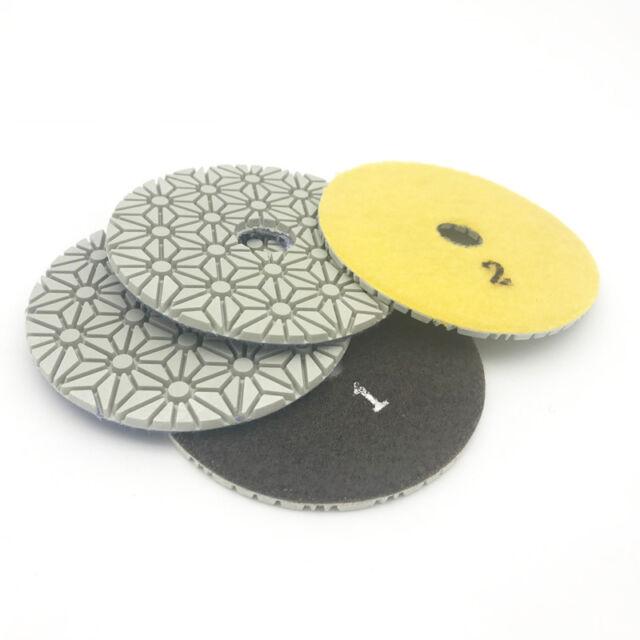4 inch Bowl Diamond Polishing Pad Arc Stone Marble Granite Convex Grinding Discs