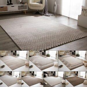 Detalles de Salón alfombra Pleasant Touch en gris marrón beige crema y gris  claro- ver título original