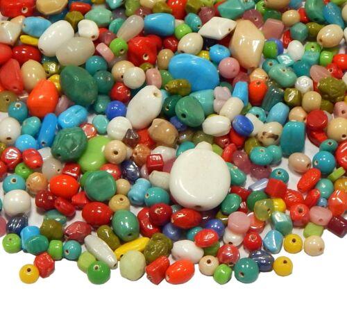 100 g indien perles de verre mixform Opaque Multicolore Lampwork Bijoux inclure mix21