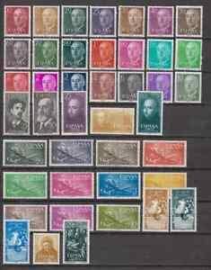 ESPAGNE-ANO-1955-MNH-NUEVO-SIN-FIJASELLOS-ESPANA-EDIFIL-1143-84-COMPLETO