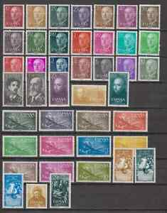 SPAIN-ANO-1955-MNH-NUEVO-SIN-FIJASELLOS-ESPANA-EDIFIL-1143-84-COMPLETO