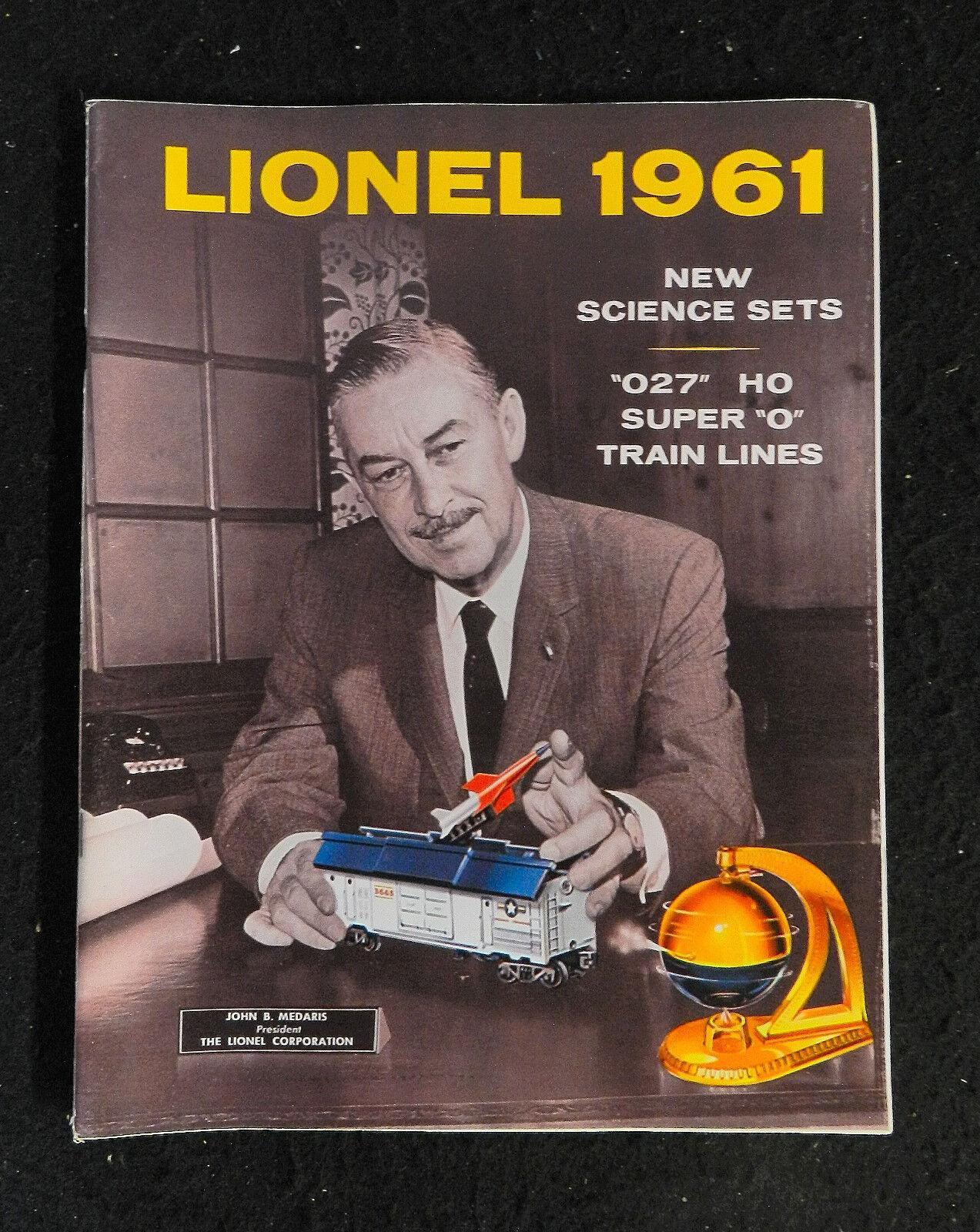 1961  LIONEL MODEL TRAINS ANNUAL LARGE CATALOG ORIGINAL