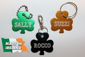 Shamrock-clover-Dogs-ID-personalized-ID-tag-tags-dog-badge-pet-disc-pets