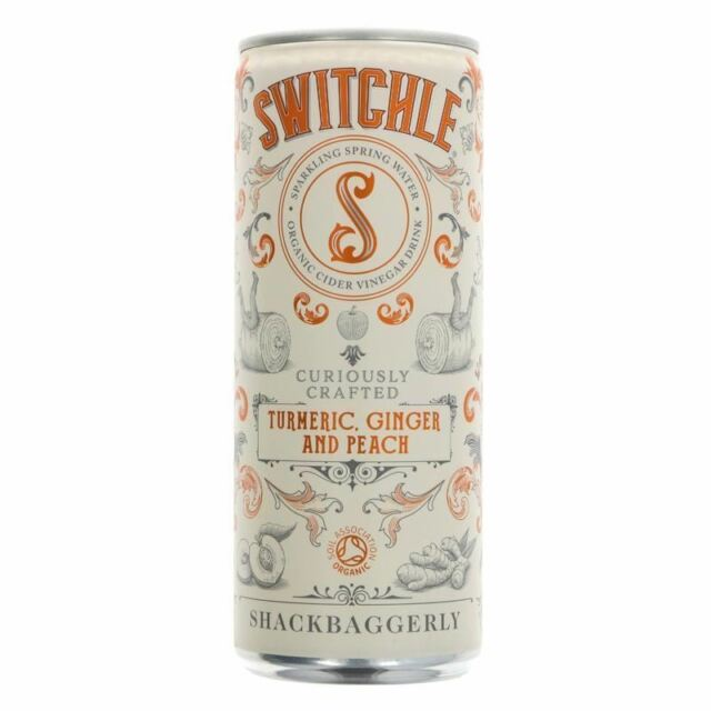 Switchle Organic Turmeric  Ginger & Peach 250ml (Pack of 6)